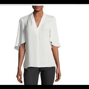 Elie Tahari Anella nude blouse